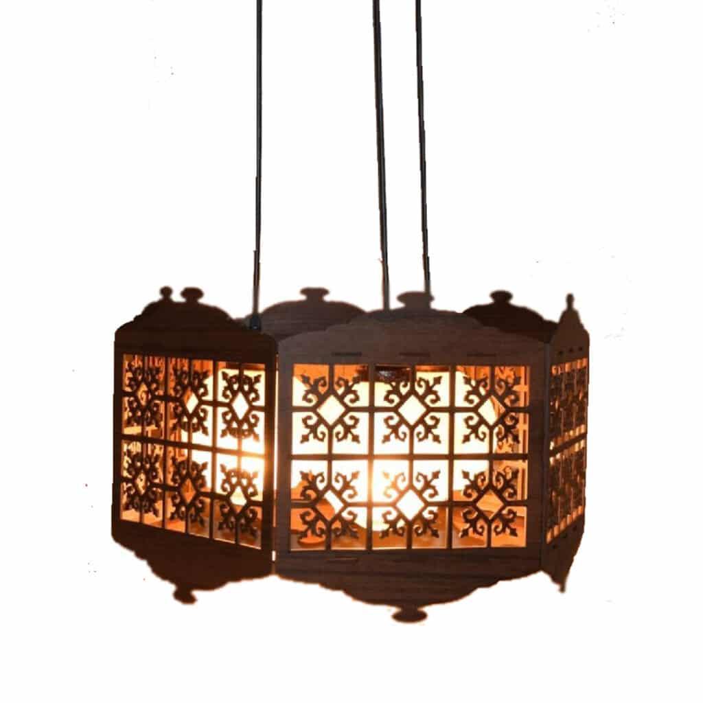 لوستر چوبی کلاسیک