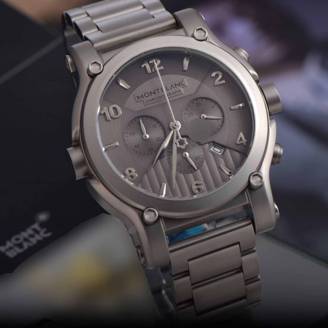 خرید ساعت مچی طوسی استیل