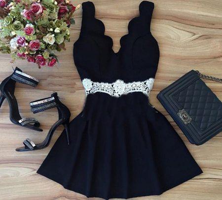 لباس مجلسی زنانه مشکی کوتاه