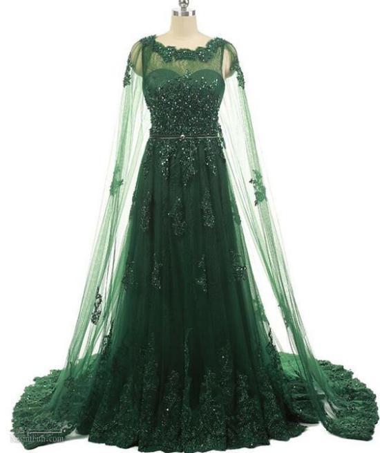 لباس مجلسی زنانه حریر دار سبز