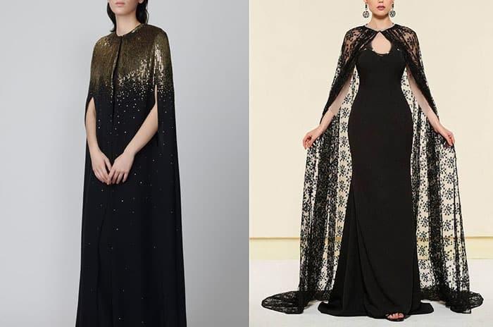 لباس مجلسی زنانه مشکی گیپور دار